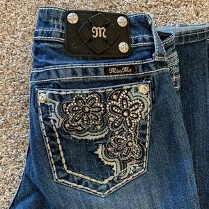 Miss Me flower bling signature rise bootcut 27